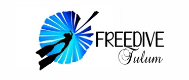 freedive tulum freediving school logo. this center is based in mexico and dives in the cenotes.